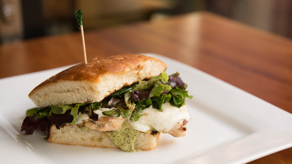 Grilled Chicken Pesto on Rosemary Focaccia