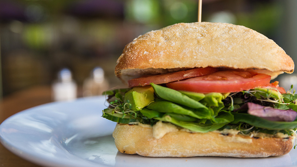 Vegetarian Sandwich on Ciabatta
