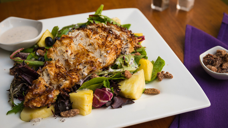 Coconut Encrusted Chicken Salad